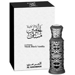 """מאסק בלאק ונילה – בושם שמן יוניסקס 12 מ""""ל Al Haramain"""